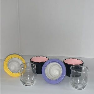 Gold Canyon Accents - Candle holders shaped as cupcakes decor